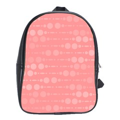 Background Polka Dots Pink School Bag (large)