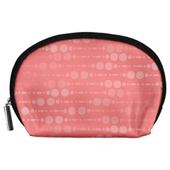 Background Polka Dots Pink Accessory Pouch (large)