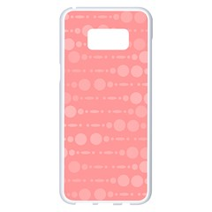Background Polka Dots Pink Samsung Galaxy S8 Plus White Seamless Case