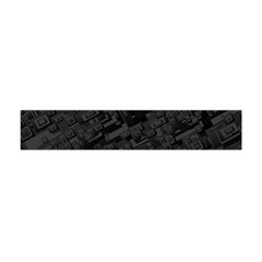 Black Rectangle Wallpaper Grey Flano Scarf (mini) by Mariart