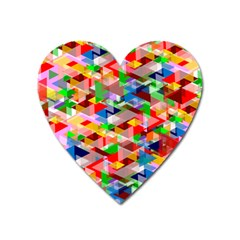 Background Triangle Rainbow Heart Magnet
