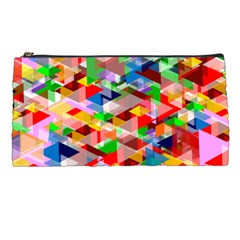 Background Triangle Rainbow Pencil Cases