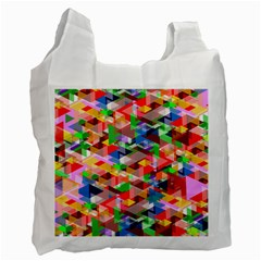 Background Triangle Rainbow Recycle Bag (two Side)