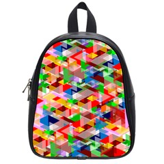 Background Triangle Rainbow School Bag (small) by Mariart