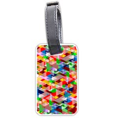 Background Triangle Rainbow Luggage Tags (one Side)