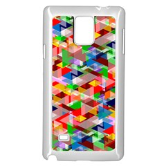 Background Triangle Rainbow Samsung Galaxy Note 4 Case (white) by Mariart