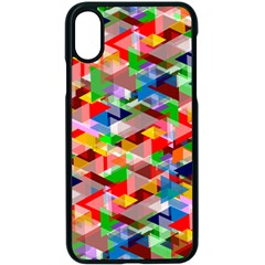 Background Triangle Rainbow Apple Iphone X Seamless Case (black)