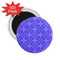 Blue Curved Line 2 25  Magnets (100 Pack)
