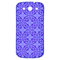 Blue Curved Line Samsung Galaxy S3 S Iii Classic Hardshell Back Case by Mariart