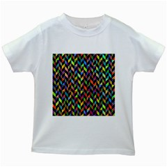 Abstract Geometric Kids White T Shirts by Mariart