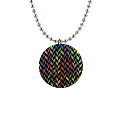 Abstract Geometric 1  Button Necklace