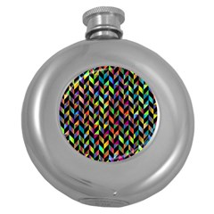 Abstract Geometric Round Hip Flask (5 Oz) by Mariart