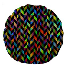 Abstract Geometric Large 18  Premium Round Cushions