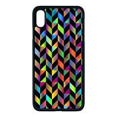 Abstract Geometric Apple Iphone Xs Max Seamless Case (black)