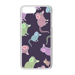 Animals Mouse Apple Iphone 7 Plus Seamless Case (white)