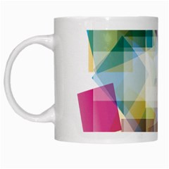 Abstract Background White Mugs by Mariart
