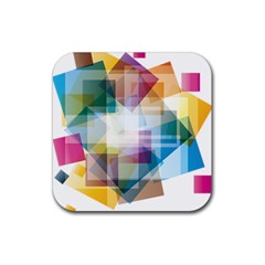 Abstract Background Rubber Coaster (square)