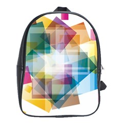 Abstract Background School Bag (large) by Mariart