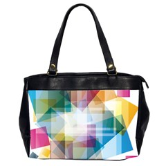 Abstract Background Oversize Office Handbag (2 Sides)