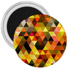 Abstract Geometric Triangles Shapes 3  Magnets