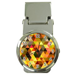 Abstract Geometric Triangles Shapes Money Clip Watches