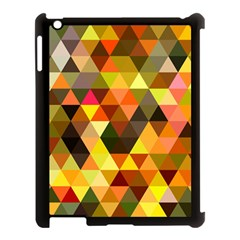 Abstract Geometric Triangles Shapes Apple Ipad 3/4 Case (black) by Mariart