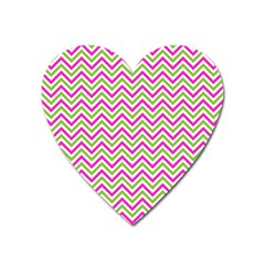 Abstract Chevron Heart Magnet