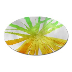 Abstract Background Tremble Render Oval Magnet