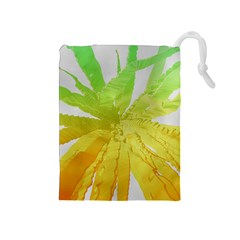 Abstract Background Tremble Render Drawstring Pouch (medium)
