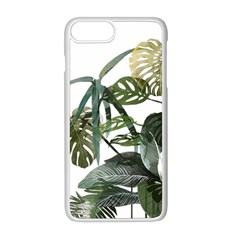 Botanical Illustration Palm Leaf Apple Iphone 8 Plus Seamless Case (white)