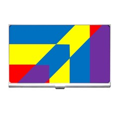 Colorful Red Yellow Blue Purple Business Card Holder