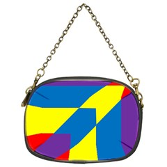 Colorful Red Yellow Blue Purple Chain Purse (one Side) by Mariart