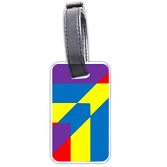 Colorful Red Yellow Blue Purple Luggage Tags (one Side)  by Mariart