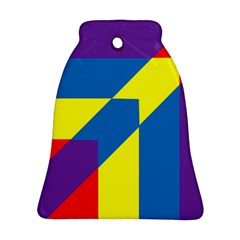 Colorful Red Yellow Blue Purple Ornament (bell)