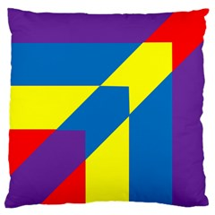 Colorful Red Yellow Blue Purple Large Cushion Case (one Side) by Mariart