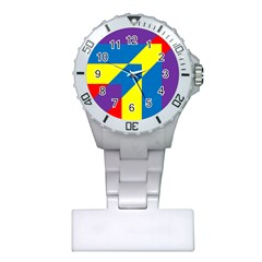 Colorful Red Yellow Blue Purple Plastic Nurses Watch