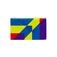 Colorful Red Yellow Blue Purple Cosmetic Bag (xs) by Mariart