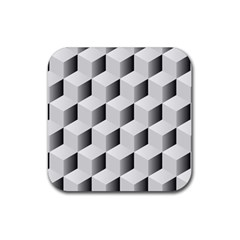 Cube Isometric Rubber Square Coaster (4 Pack)