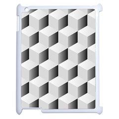 Cube Isometric Apple Ipad 2 Case (white) by Mariart