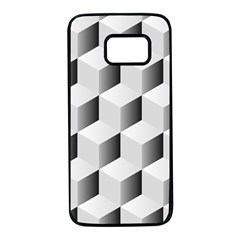 Cube Isometric Samsung Galaxy S7 Black Seamless Case by Mariart