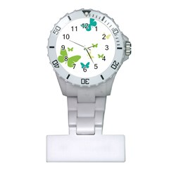 Butterfly Plastic Nurses Watch by Mariart