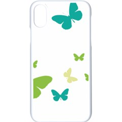 Butterfly Apple Iphone Xs Seamless Case (white)