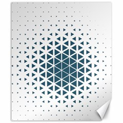 Business Blue Triangular Pattern Canvas 20  X 24  by Mariart