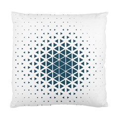 Business Blue Triangular Pattern Standard Cushion Case (one Side) by Mariart