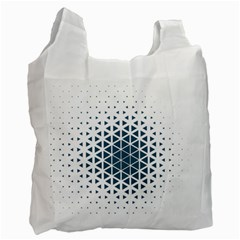 Business Blue Triangular Pattern Recycle Bag (one Side)