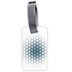 Business Blue Triangular Pattern Luggage Tags (one Side)