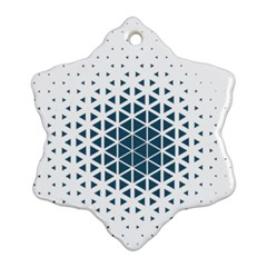 Business Blue Triangular Pattern Ornament (snowflake) by Mariart