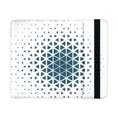 Business Blue Triangular Pattern Samsung Galaxy Tab Pro 8 4  Flip Case by Mariart