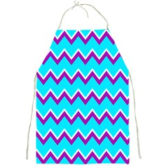 Chevron Pattern Background Blue Full Print Aprons by Jojostore