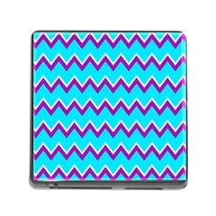 Chevron Pattern Background Blue Memory Card Reader (square 5 Slot) by Jojostore